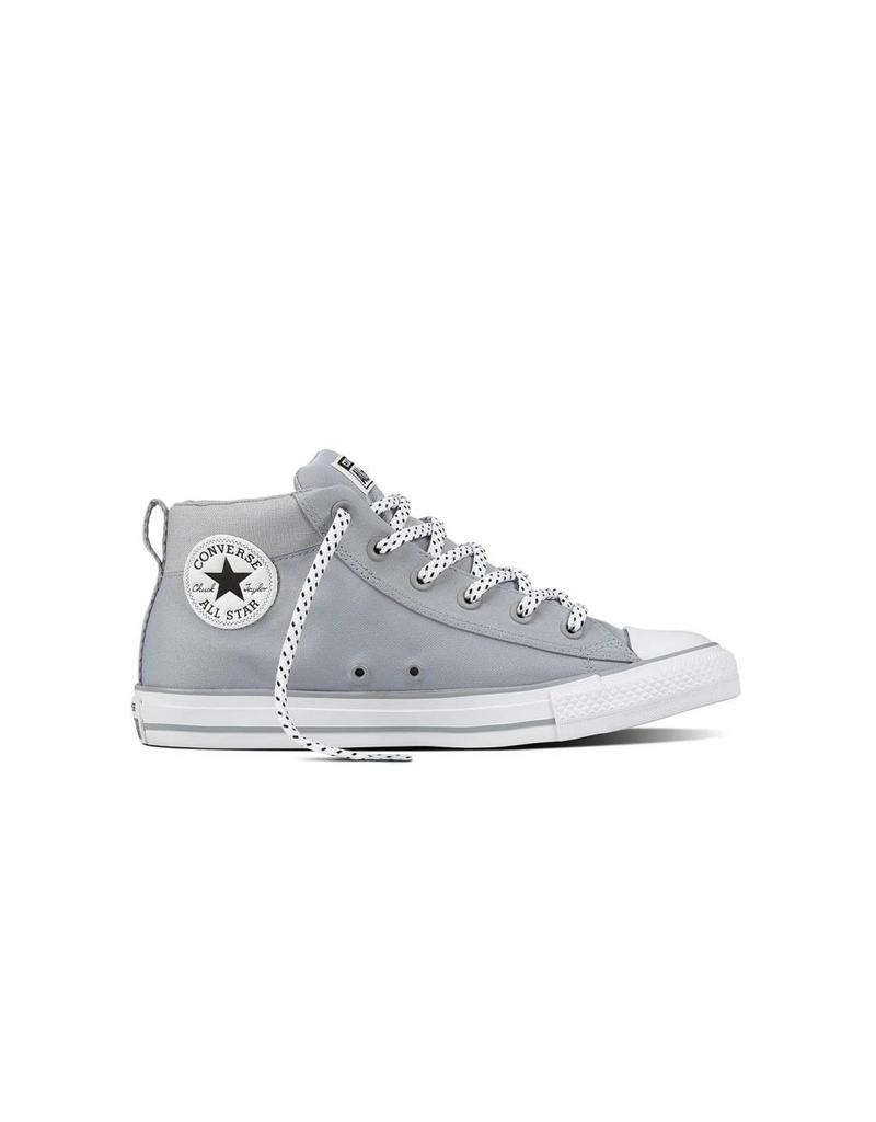 CONVERSE CHUCK TAYLOR STREET MID WOLF GREY/BLACK/WHITE C898WO-159604C