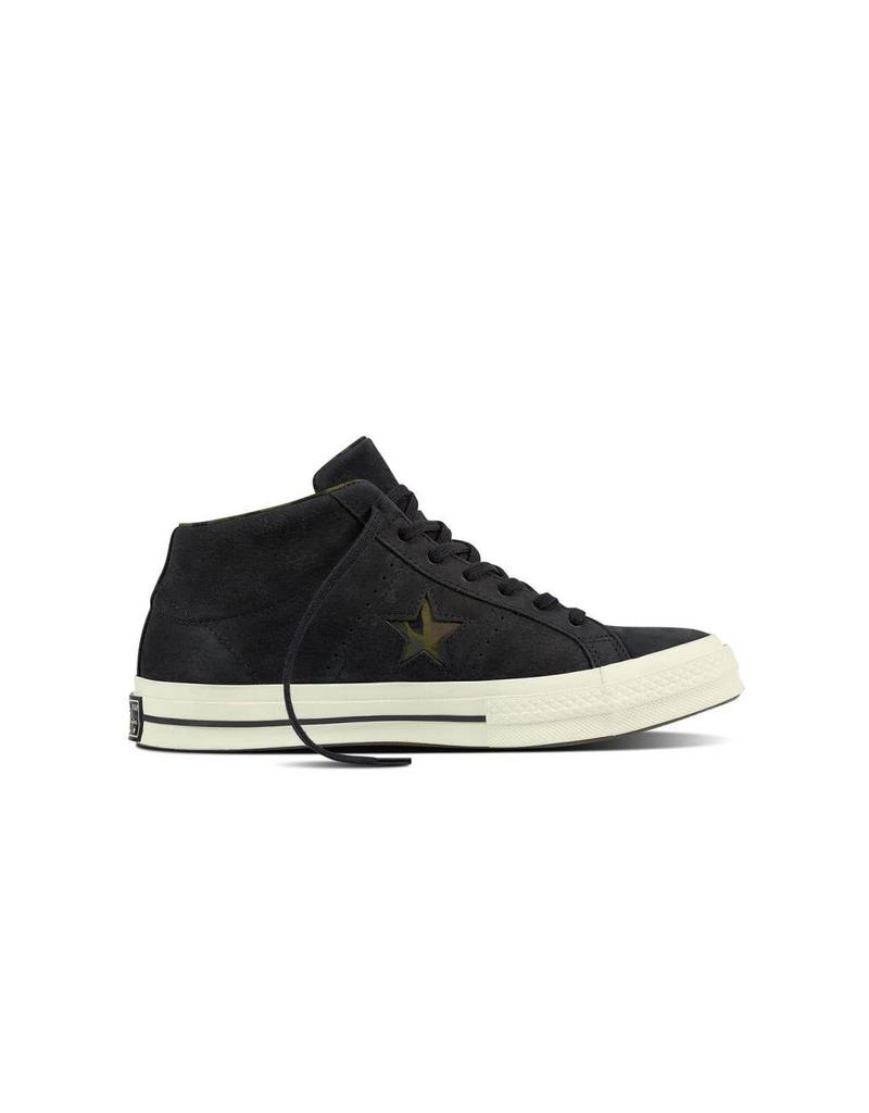 CONVERSE ONE STAR MID BLACK/EGRET/HERBAL C887BH-159747C