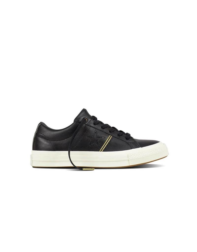 CONVERSE ONE STAR OX BLACK/GOLD/EGRET CC887BW-159701C