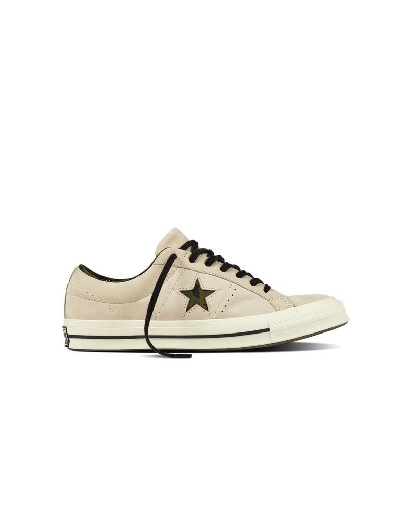 CONVERSE ONE STAR OX EGRET/BLACK/HERBAL CC887HE-159782C