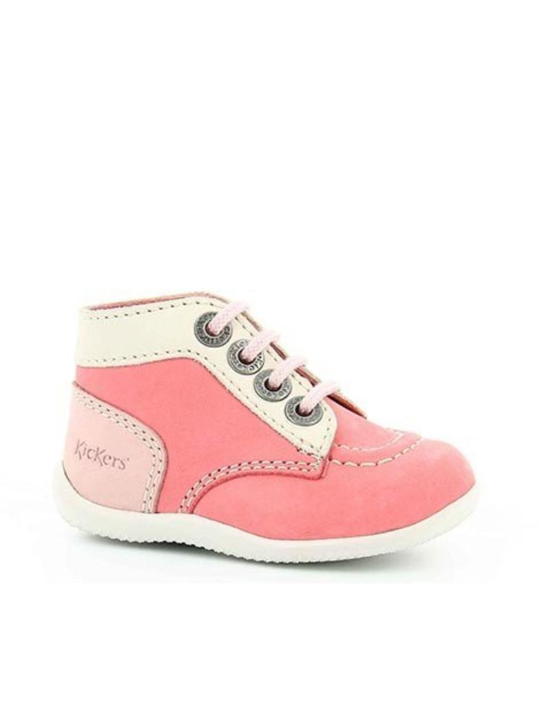 KICKERS BONBON ROSE BLANC ROSE CLAIR KR3RC 18E446827-10+133