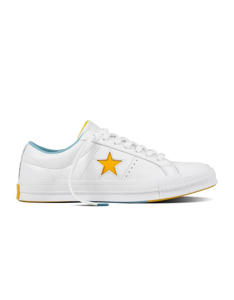 CONVERSE ONE STAR OX WHITE/MINERAL YELLOW C887MY-160593C