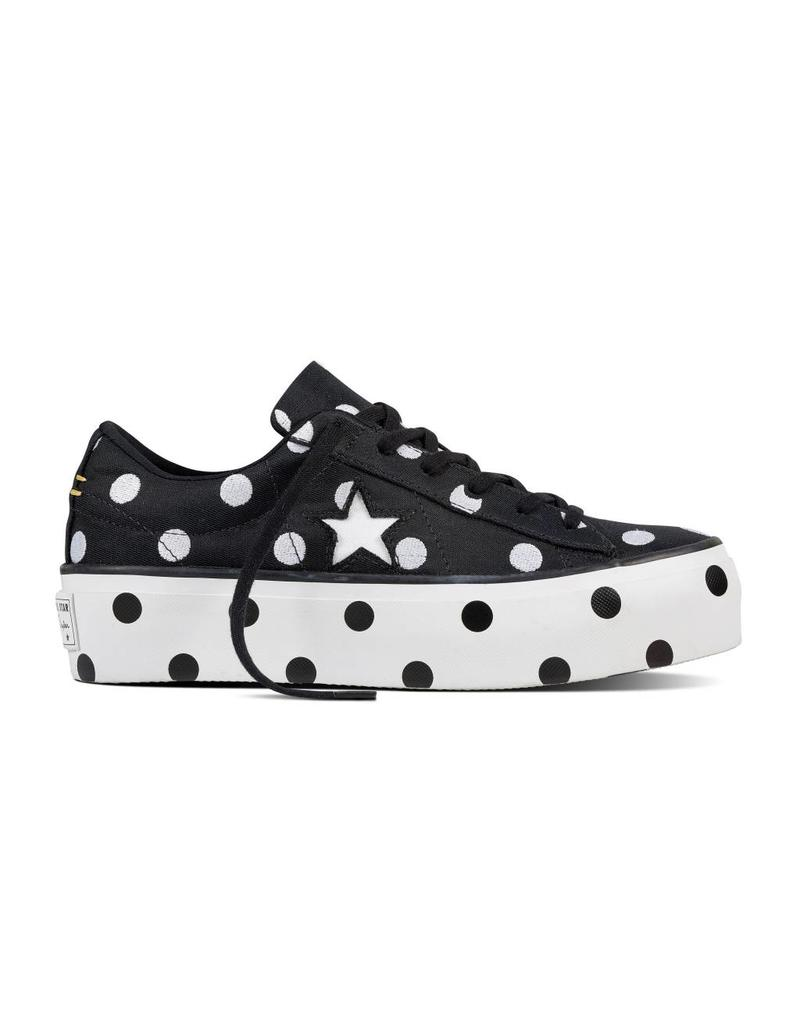 CONVERSE ONE STAR PLATFORM OX BLACK/WHITE/WHITE C887BWB-560695C
