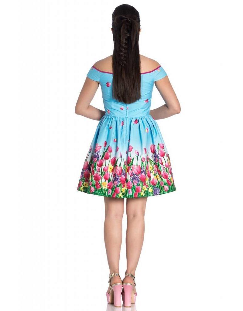 HELL BUNNY - Angelique Blue Mini Dress
