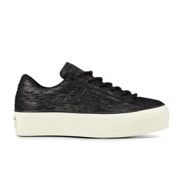 CONVERSE ONE STAR PLATFORM OX BLACK/GUNMETAL C887PB-561769C
