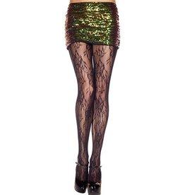 MUSIC LEGS - Spandex Vintage Lace Design Pantyhose