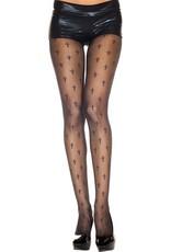 MUSIC LEGS - Cross Prints Spandex Pantyhose