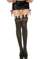 MUSIC LEGS - Bunny Print Spandex Pantyhose