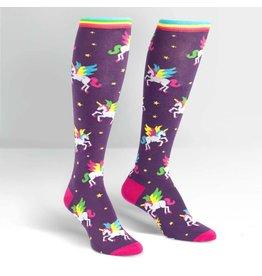 SOCK IT TO ME - Women's Winging It Knee High Funky Socks