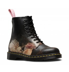 DR. MARTENS 1460 POWER WHITE+BLACK ROSE CRISTAL SUEDE 815NOP-R24076101