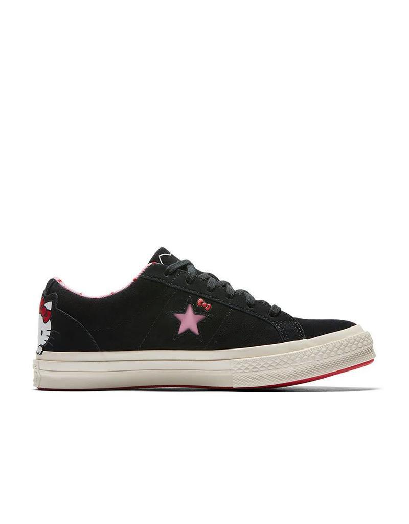 CONVERSE ONE STAR OX BLACK/PRISM PINK/EGRET C887HKB-162938C