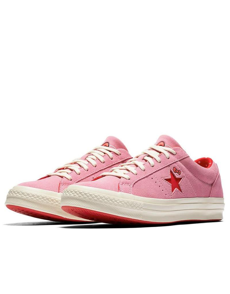 CONVERSE ONE STAR OX PRISM PINK/FIERY RED/EGRET CY887HKI-362941C