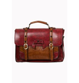 BANNED - Heart Racer Handbag Red/Brown