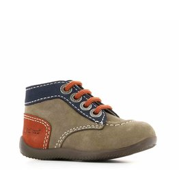 KICKERS BONBON GRIS MARINE ORANGE KR3GMO 18H446829-10+123