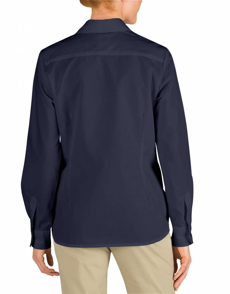 DICKIES Women`s Long Sleeve Work Shirt