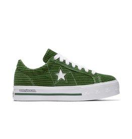 CONVERSE ONE STAR PLATFORM OX GARDEN GREEN/WHITE CS887MG - 561392C