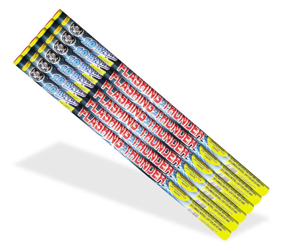 Cutting Edge Flashing Thunder 10 Ball, CE - Pack 6/1