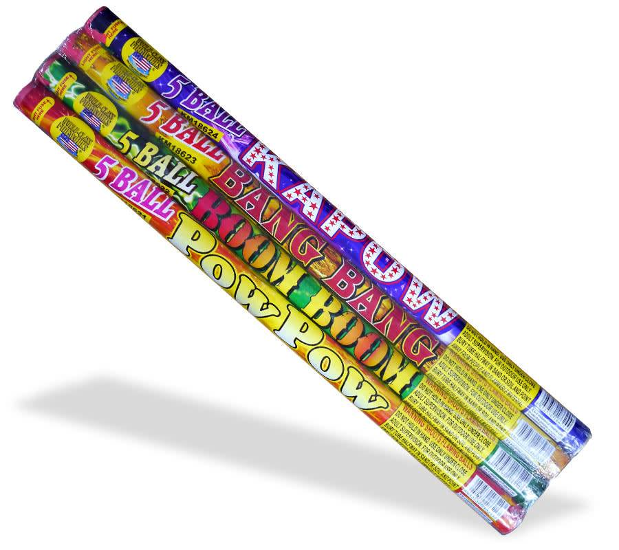 World Class Roman Candle Assorted 5 Ball, WC - Case 24/4