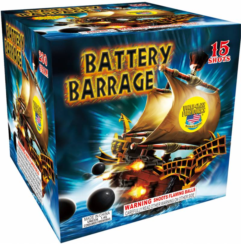 World Class Battery Barrage - Case 8/1