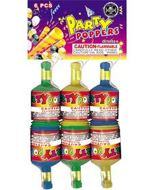 Champagne Party Poppers, CE - Pack 6/1