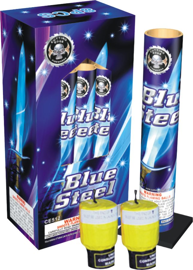 Cutting Edge Blue Steel Canister Shells 8pk - Case 12/8