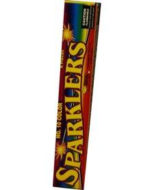 Color Sparklers 10'', WC - Pack 12/8