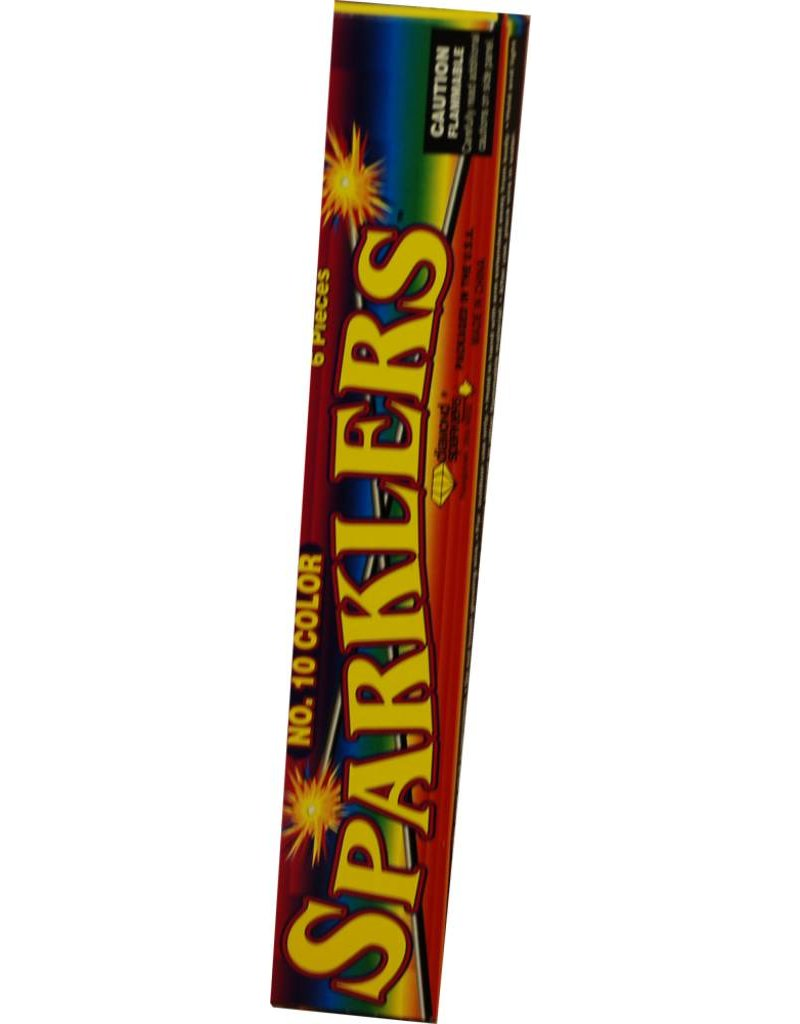"World Class Color Sparklers 10"", WC - Case 24/12/8"