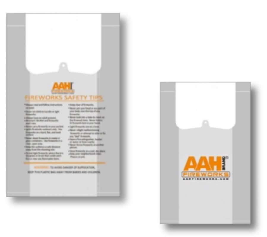 AAH AAH® Plastic Carry Bags - Case 500/1