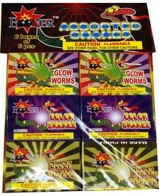Colored Snake Assortment, BM - Pack 6/6