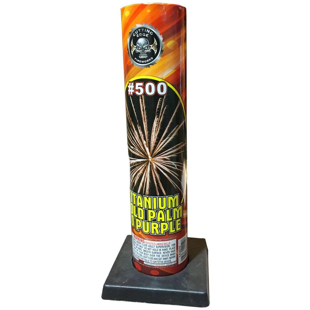Cutting Edge Titanium Gold Palm to Purple #500 Tube, CE