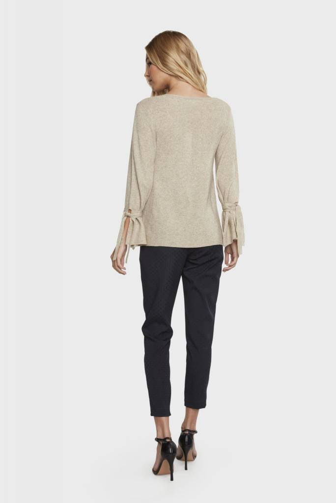 Willow & Clay Willow & Clay celia bell tie sleeve rib sweater