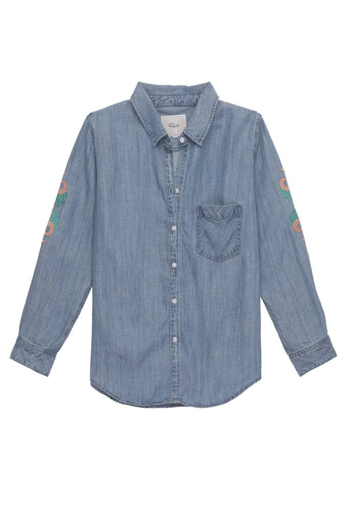 Rails Rails ingrid embroidery ls shirt