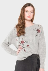Willow & Clay Willow & Clay embroidered pullover sweater