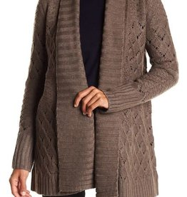 Matty M shawl collar open stitch cardigan