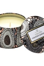 petite decorative tin candle
