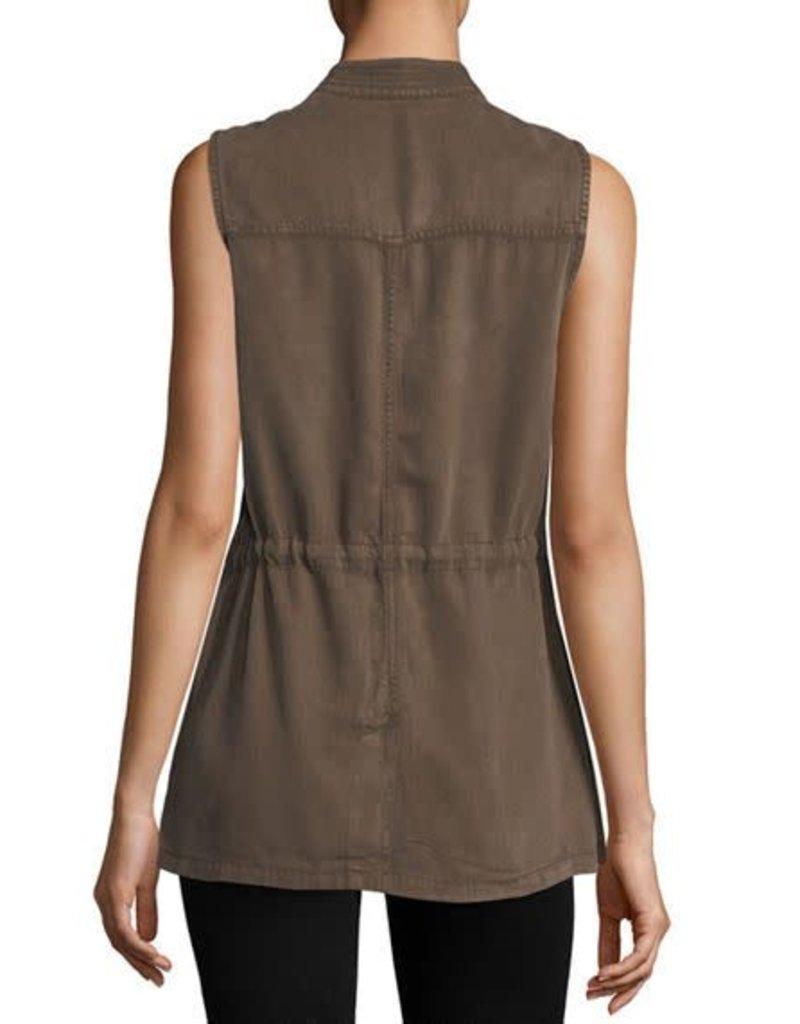 tencel cargo vest