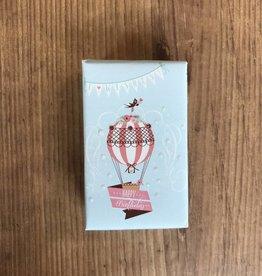 4 oz organic hot air balloon happy birthday soap