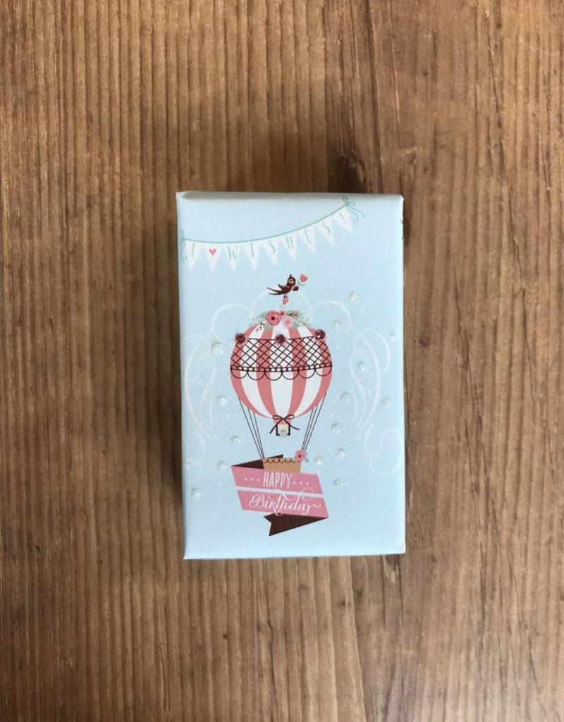 4 oz organic hot air balloon happy birthday soap