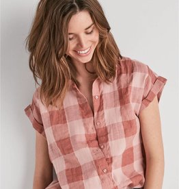 Lucky plaid short sleeved top