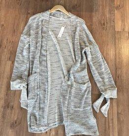 marled knit cardigan