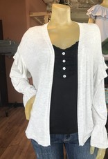 Willow & Clay light weight knit cardigan with ruffle shoulder