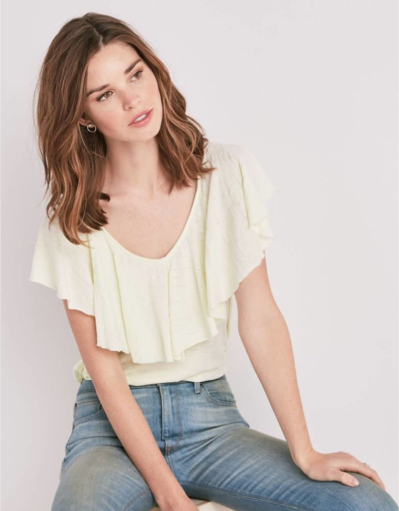 Lucky burnout ruffle top