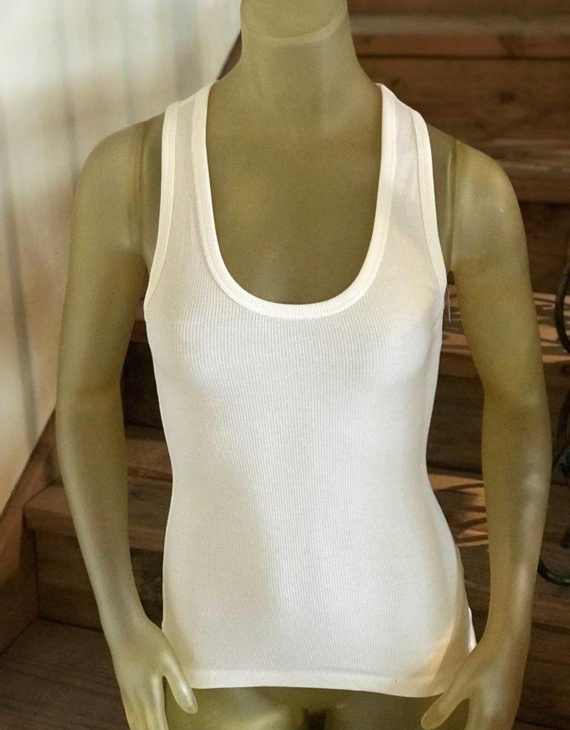 u-neck rib tank
