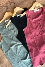 button front henley tank