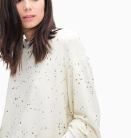 Splendid city lights metallic treatment splatter sweatshirt