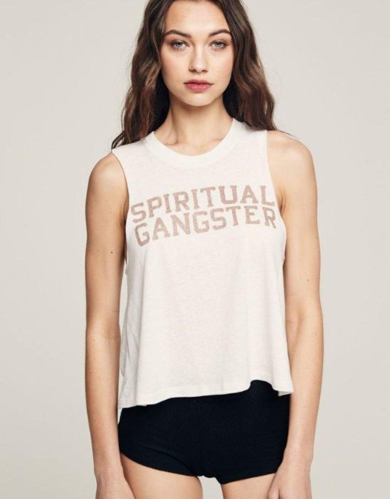 Spiritual Gangster varsity crop tank