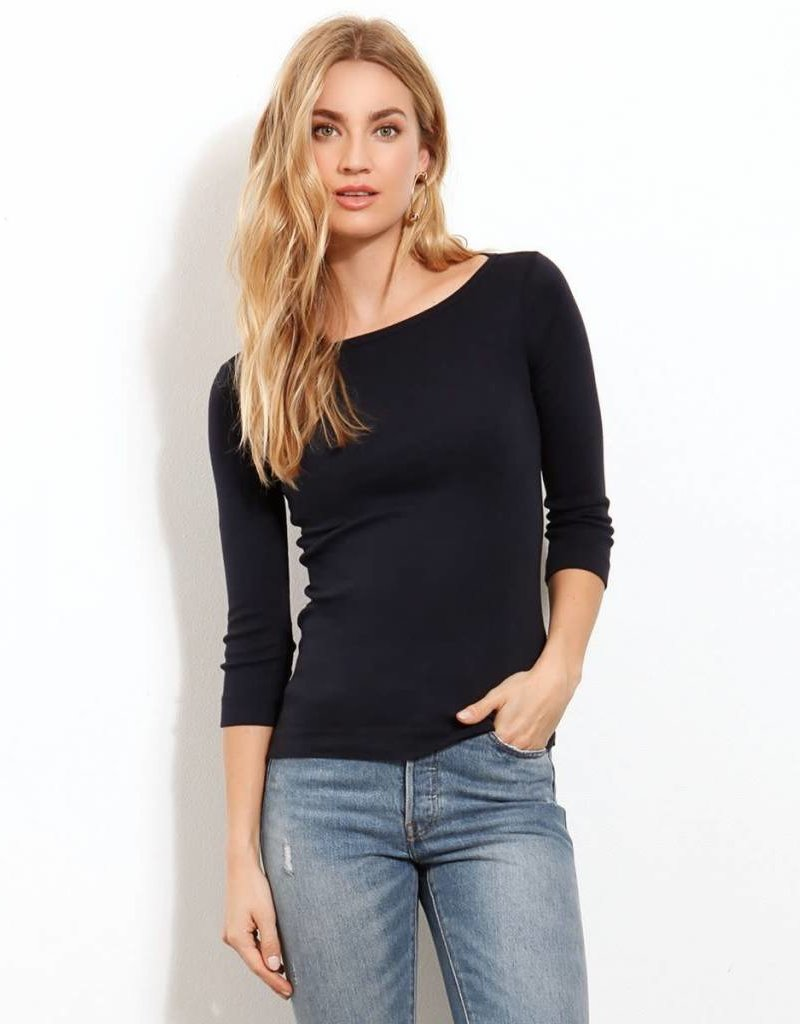 Three Dots essential british neck tee