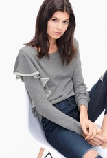 Splendid westfourth asymmetrical ruffle sweatshirt