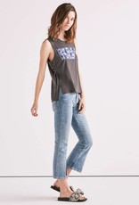 Lucky kiss side lace up tank