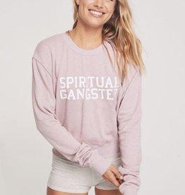 Spiritual Gangster spiritual gangster varsity crop sweatshirt